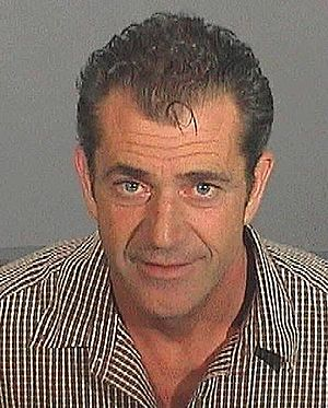Mel Gibson's mugshot from his 28 July 2006 arr...